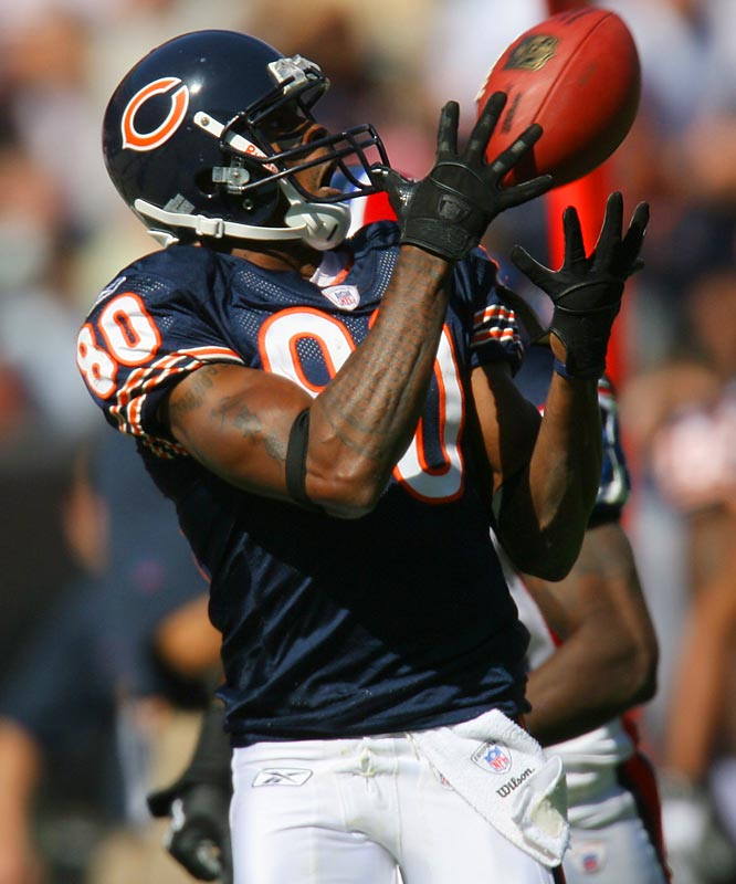Berrian looked very impressive in the preseason and should be a consistent deep threat for the Bears. Berrian put on some muscle in the offseason, but is still one of the faster receivers in the NFL. Look for the Bears to make him a focal point of the passing game.