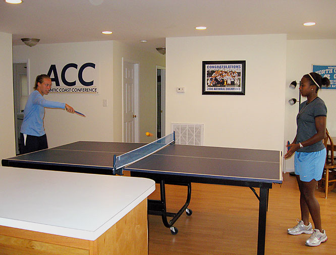 Dining tables are so boring.   Why sit when you can ping-pong?