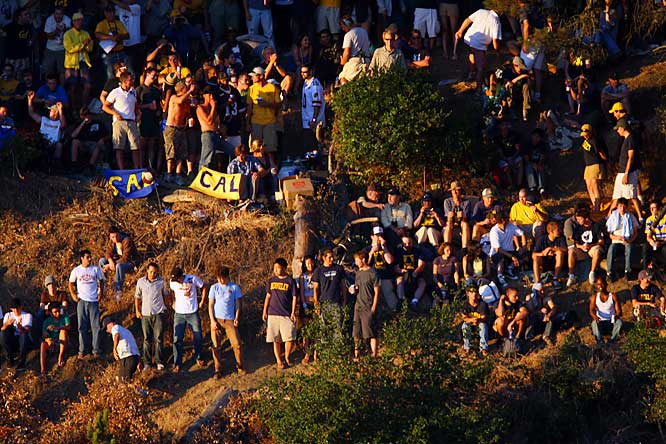 Cal fans take in Saturday's 45-31 victory from Tightwad Hill.