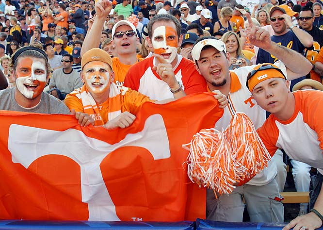 These Tennessee fans manage to enjoy themselves, despite the Vols' 45-31 loss to Cal.