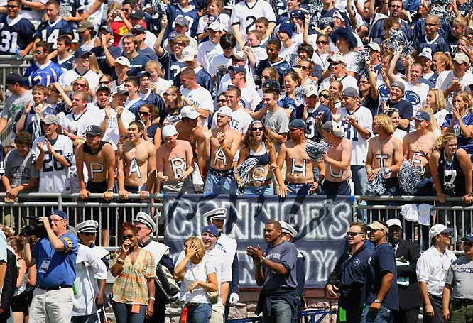 Penn State fans enjoy themselves during Saturday's 59-0 nail biter over Florida International.