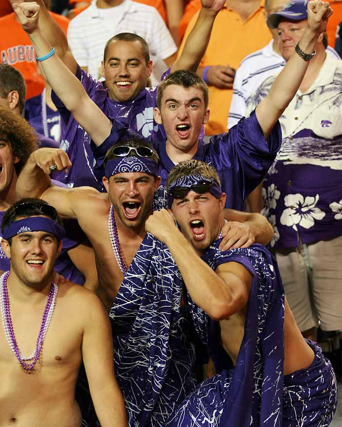 Kansas State fans won't let the Wildcats' 23-13 loss to Auburn ruin their good time.