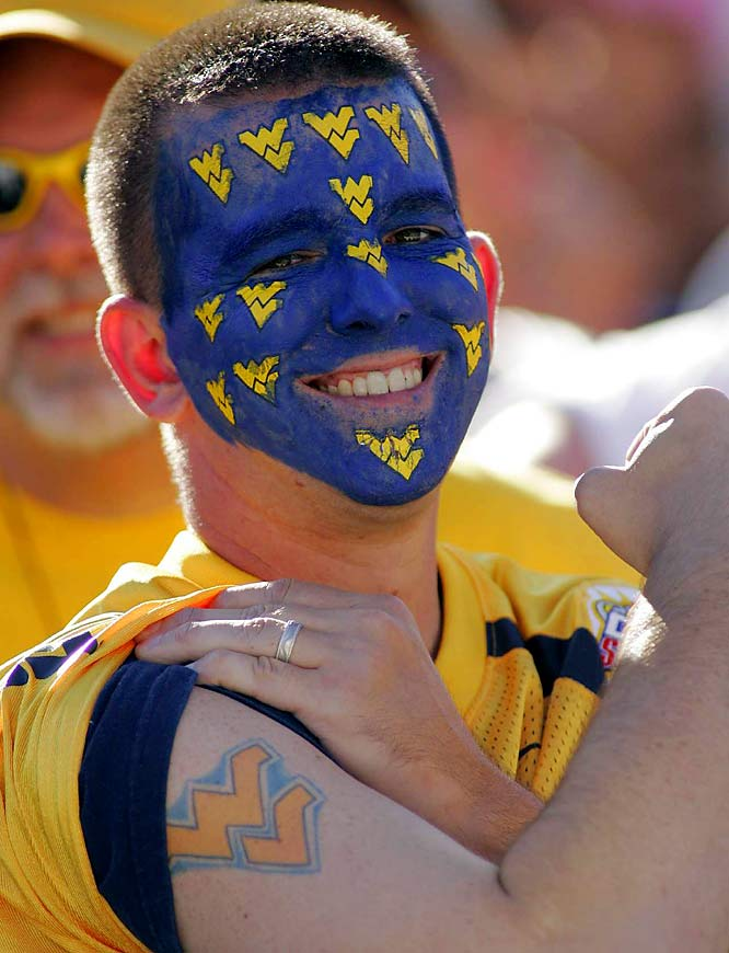 We're going out on a limb and say this student attends West Virginia University.