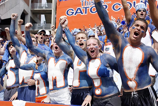 These Florida fans are really excited to be in The Swamp.