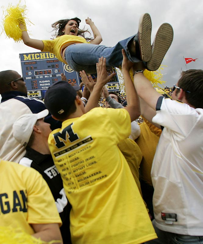Michigan fans finally had a reason to celebrate as the Wolverines embarassed Notre Dame, 38-0, in Ann Arbor on Saturday.