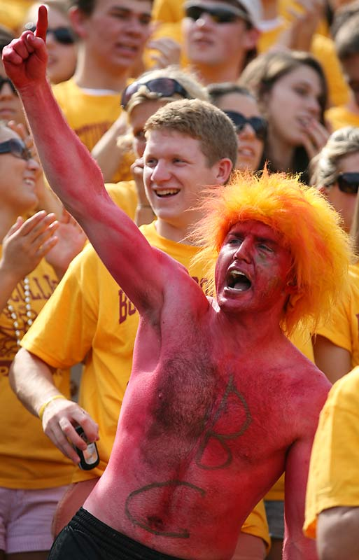 This BC fan got some bad info as the Eagles are currently ranked No. 12, not No. 1.