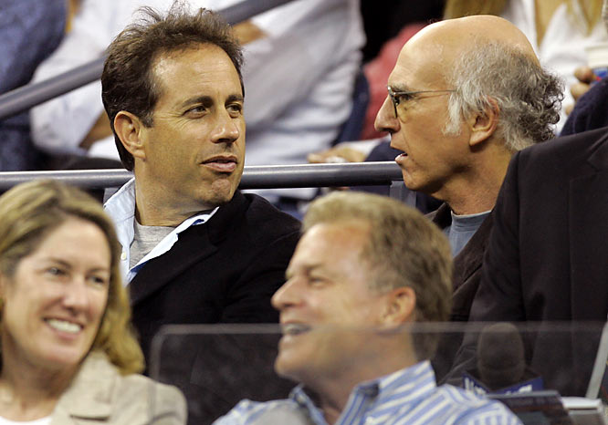 In our world, we're imagining that Jason Alexander is in the concession area eating a sundae while Jerry Seinfeld and Larry David watch some U.S. Open tennis.
