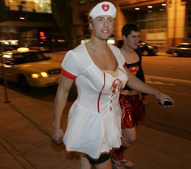 Busty Diamondbacks rookie third baseman Mark Reynolds becomes a victim of baseball's late-season tradition of hazing...