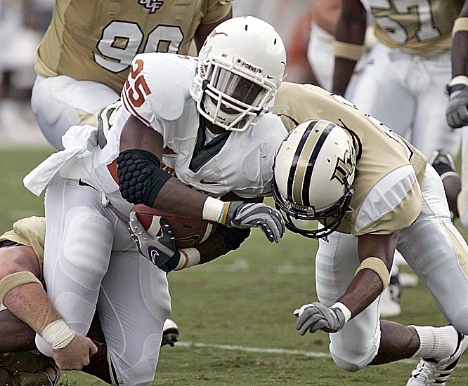 Jamaal Charles and Texas had little margin for error against UCF. Charles ran for 146 yards and a touchdown.