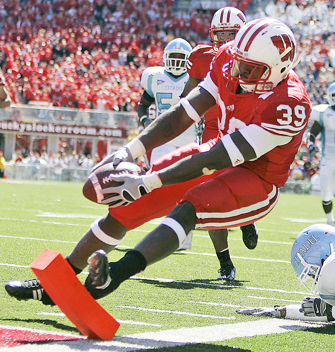 No. 7 Wisconsin was tied with Citadel at halftime, but the Badgers took control of the game in the second half behind P.J. Hill, who finished with 168 yards rushing and four touchdowns.