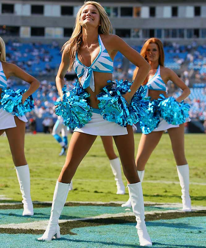 0e3b5e0b9 NFL Cheerleaders - Week 2 Sc 1 St Sports Illustrated. image number 1 of panthers  cheerleader costume ...