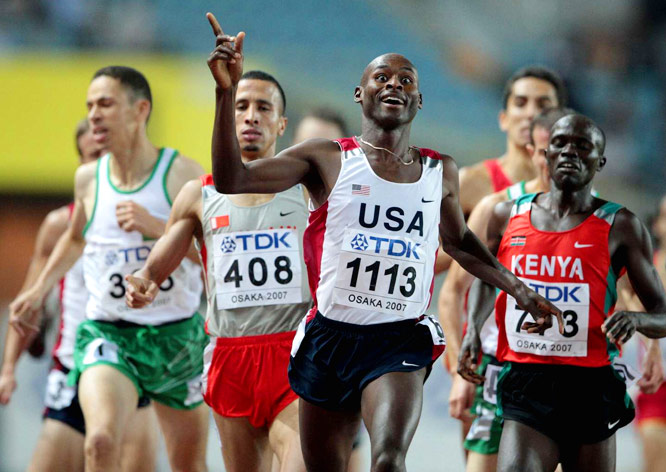 Bernard Lagat became the first American to win the 1,500 and 5,000 at a worlds.