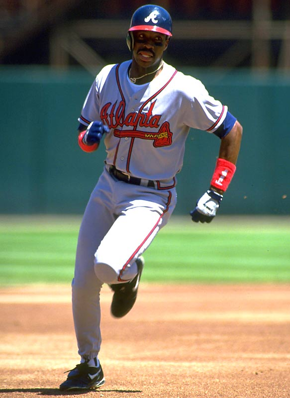 After a midseason trade sent him from San Diego to Atlanta, Fred McGriff hit .299 with six home runs and 25 home runs in September 1993 for the Braves, who won the National League pennant by a game over the Giants.