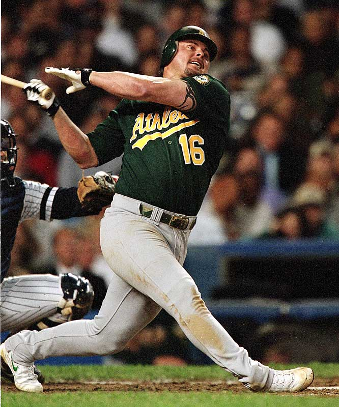 On Aug. 30, 2000, Jason Giambi received a cortisone shot, then went on to hit .400 in September with 13 home runs, 26 RBIs and a .529 on base percentage. Giambi homered five times in his last eight games to lead Oakland to its first AL West title in eight years.