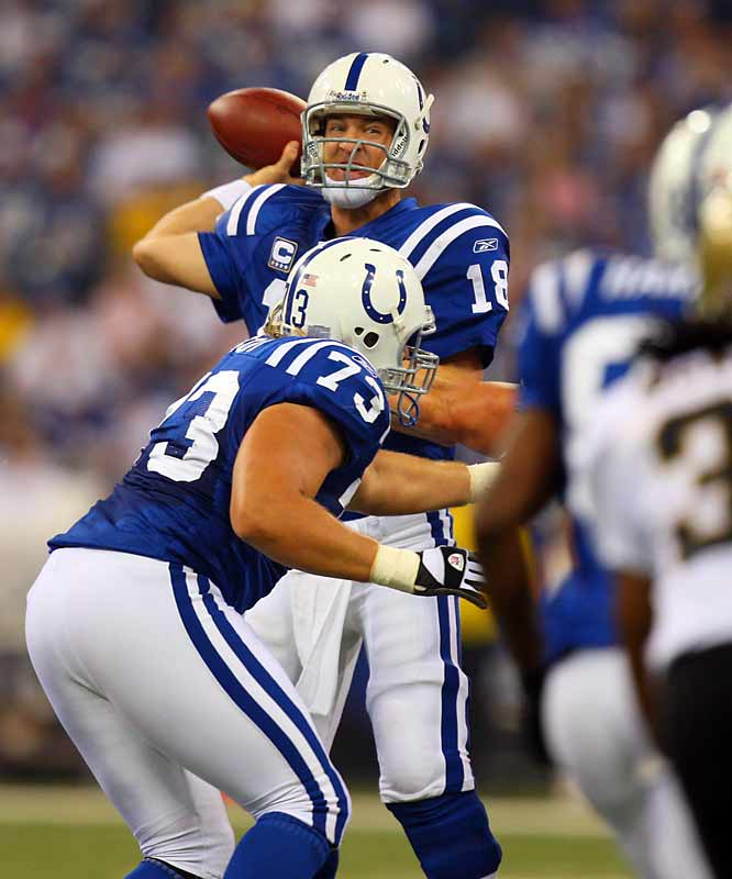 Peyton Manning was in midseason form and led the Colts to 31 unanswered points in the second half.