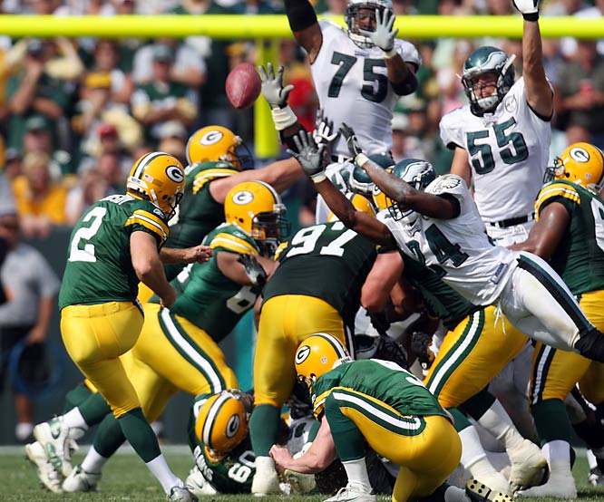 Rookie Mason Crosby hit a 42-yard field goal with two seconds left, the highlight of a win that featured strong special teams and defense by the Packers.