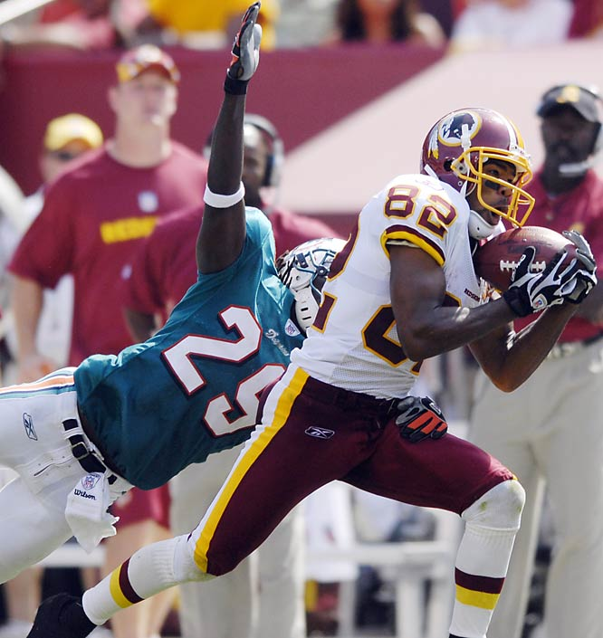 Antwaan Randle El was the game's most dynamic player. His 35-yard catch set up a second-quarter field goal, and his 49-yard snag set up a 19-yard run by Portis for a 10-7 lead in the third quarter.