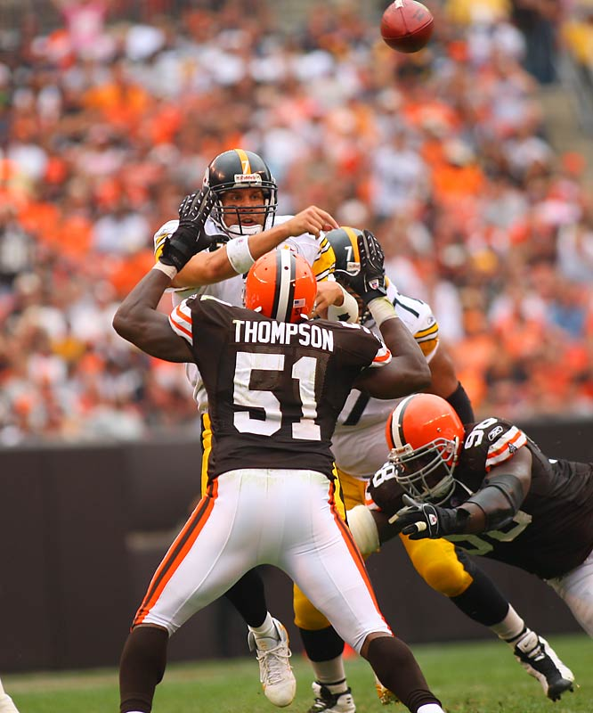 Ben Roethlisberger threw a career-high four touchdown passes as Pittsburgh built an early 17-0 lead against the Browns.