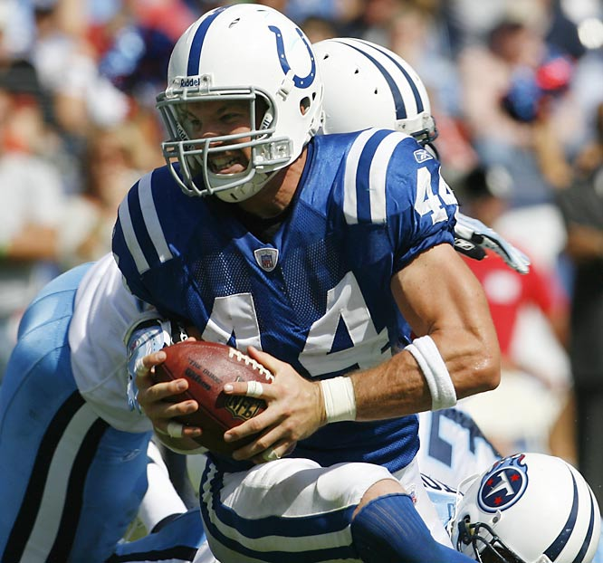 Tight end Dallas Clark hauled in seven passes for 69 yards and a touchdown against the Titans.