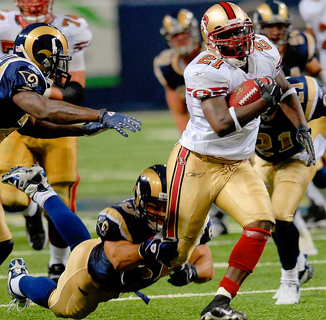 In a week in which Frank Gore mourned the loss of his mother, he ran for two touchdowns and helped the Niners improve to 2-0.