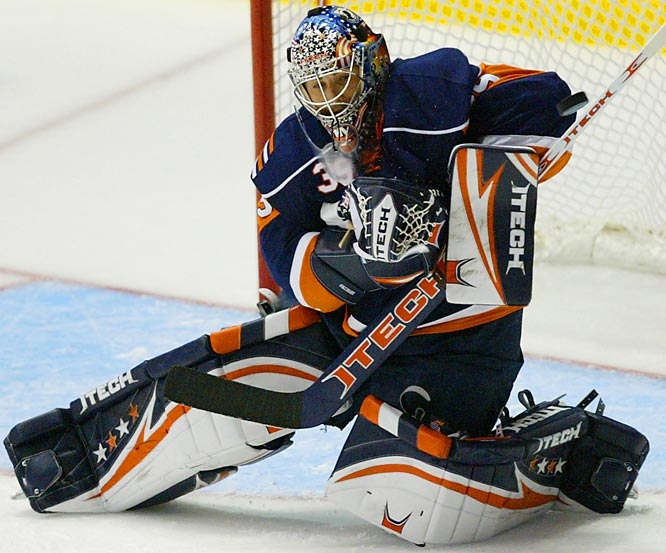 The Isles' roster has a plumber's crack after the team lost much of last season's offensive firepower, so their franchise netminder has a tough job in store. If they make the playoffs DiPietro will further justify the 15-year deal he was given prior to last season.
