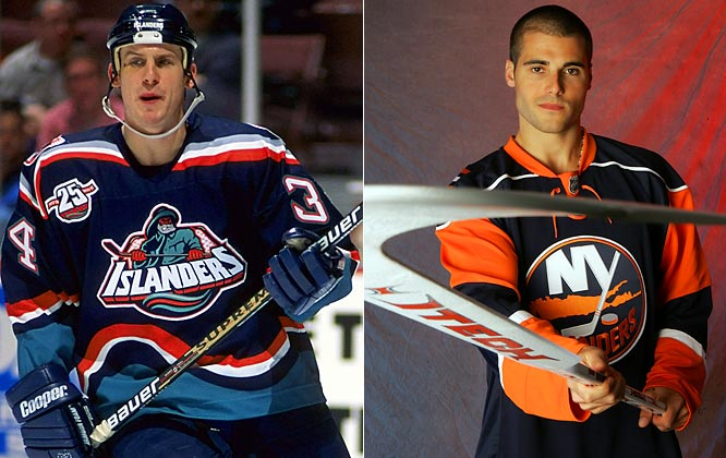 Perhaps the most unfortunate uniform redesign belonged to the 1995-96 New York Islanders. Their crest reminded many -- especially Rangers fans -- of the icon for a popular brand of fish sticks. The Isles eventually returned to their traditional design, which is reflected in their new edition.