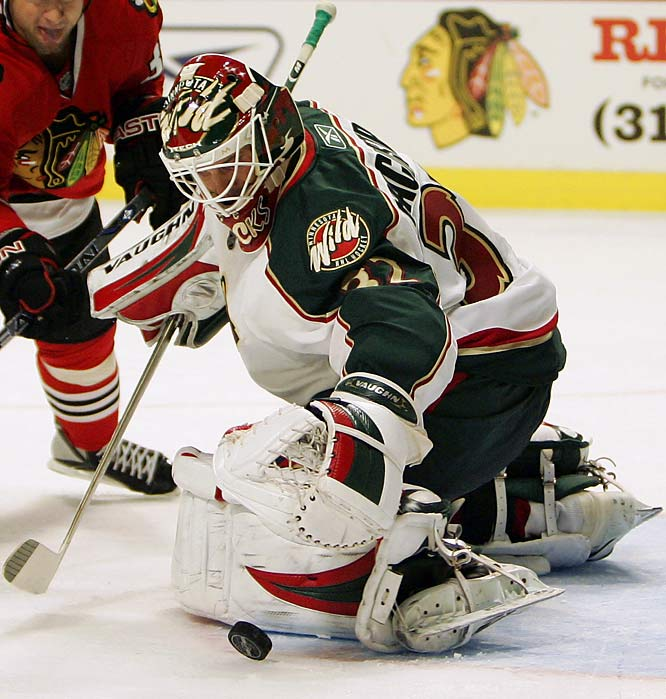 With Manny Fernandez gone to Boston, the 29-year-old Finn has the Wild's net all to himself. He chalked up an impressive 23-8-6, 1.97 GAA slate in 41 games last season and held his own in Minny's first-round playoff loss to the Ducks. This season will be his proving ground.