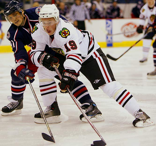 The highly-anticipated rookie, drafted third overall in 2006, brings scoring touch and two-way grit. Along with 2007 overall top pick Patrick Kane, Toews gives the long downtrodden Blackhawks hope and a favorite for the Calder Trophy.