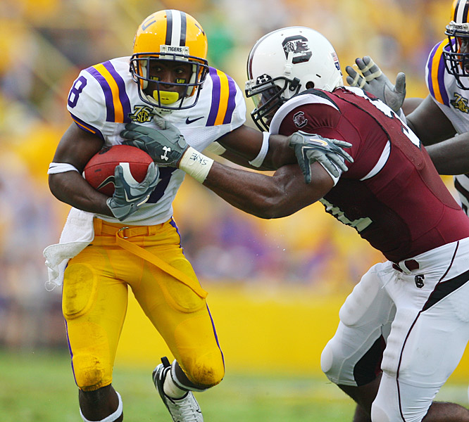 Trindon Holliday finished with a career-high 73 yards rushing, including a 33-yard touchdown in LSU's victory.