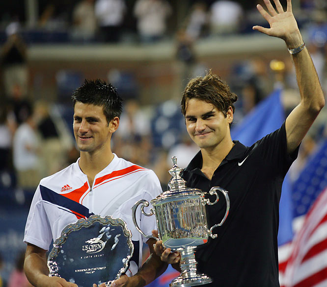 Federer's three-set win over Djokovic in the men's final gave him 12 career Grand Slam singles titles, tying him for No. 2 alltime with Roy Emerson. Pete Sampras holds the record with 14.