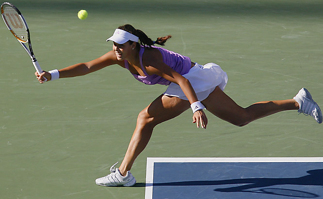 Serbian teenager Ana Ivanovic was steamrolled by Venus Williams on Sunday night in the fourth round of the U.S. Open.