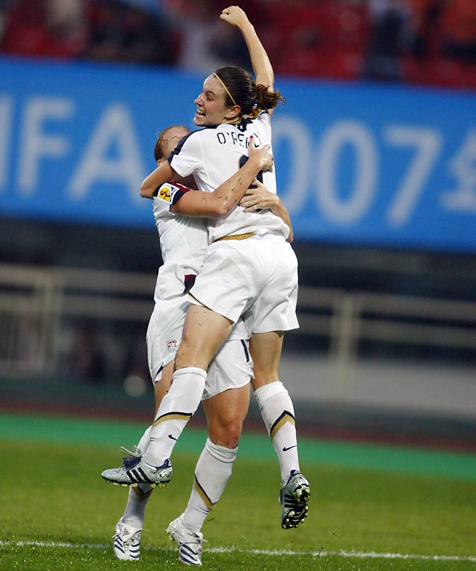 Heather O'Reilly's goal in the 69th minute -- into the far corner of the goal from 10 yards out -- gave the U.S. its' 2-2 tie with the North Koreans.