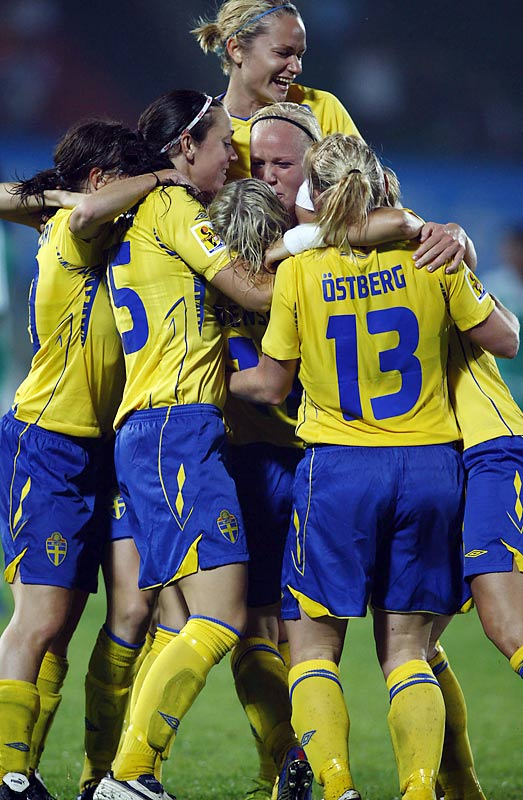 Led by Hanna Ljungberg and Victoria Svensson, the third-ranked Swedes feature two of the best players in the tournament. Svensson scored Sweden's goal in a 1-1draw with Nigeria. Sweden lost the last World Cup to Germany in overtime on a golden goal.