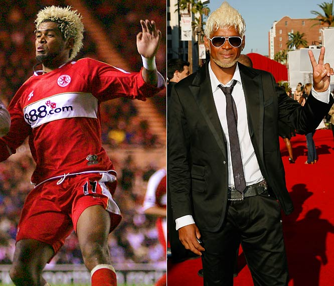 The bleached-blonde hair? Ideal for the the L.A. Galaxy. Ready, willing and Abel when it comes to clothes, he's never been red-carded by the fashion police.