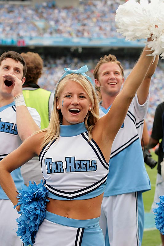 Meet Holly, a North Carolina senior and proud member of the Tar Heels cheer squad. Off the field, Holly likes to read celebrity gossip magazines, wakeboard and daydream about Dane Cook. Wanna find out more? Click on the 20 Questions link below.