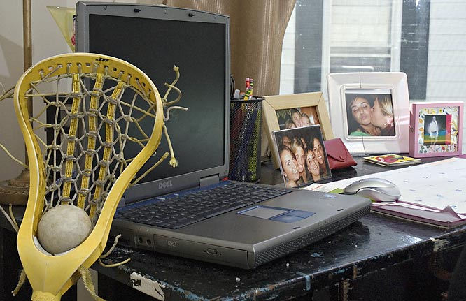 A lacrosse stick is never far away for Gibson or any of the others.