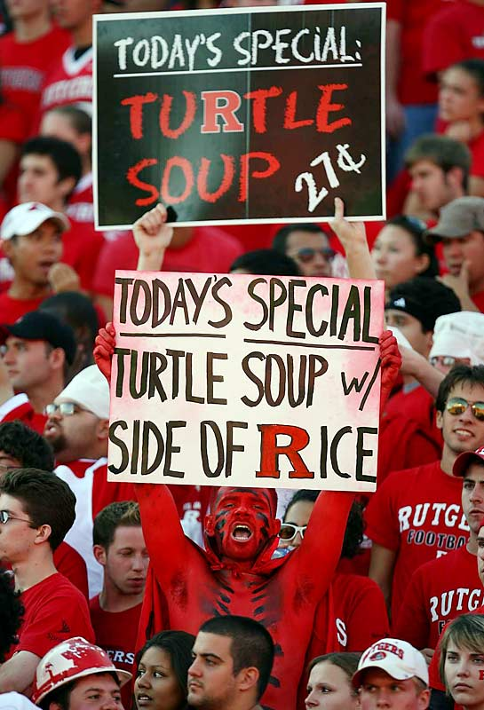 Despite the support of these Scarlet Knight fans, Rutgers was unable to pull out a victory over Maryland.