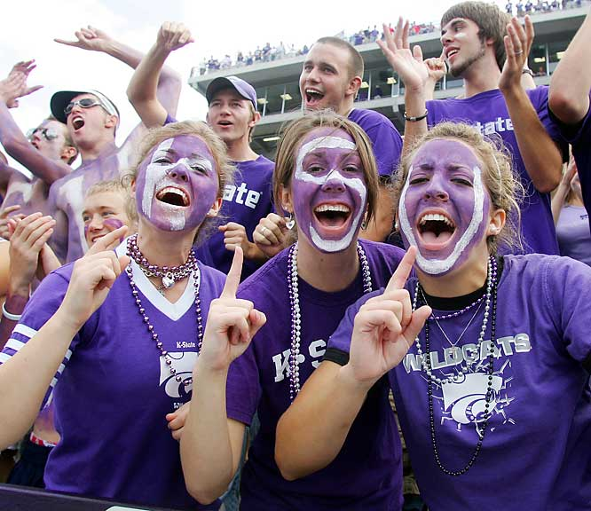 These K-State fans were ecstatic before Saturday's game against Kansas, but left unhappy as the Jayhawks prevailed, 30-24.