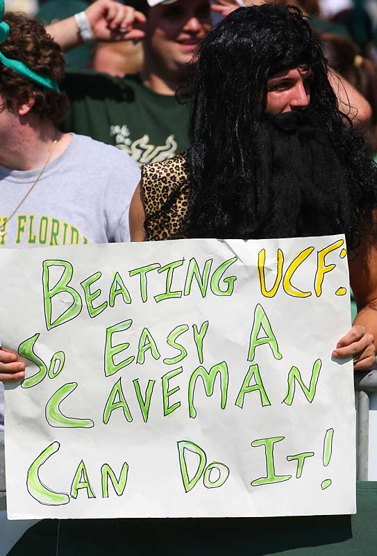 Enjoy this sign while you can -- we have a feeling <i> Cavemen </i> won't be around much longer.