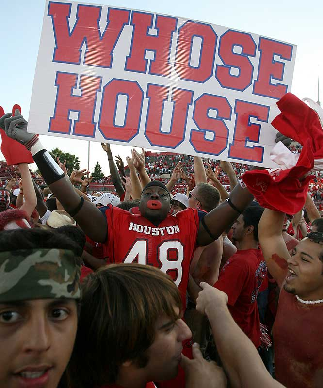 Whose house? Houston's house, according to defensive tackle Raymond Alake.