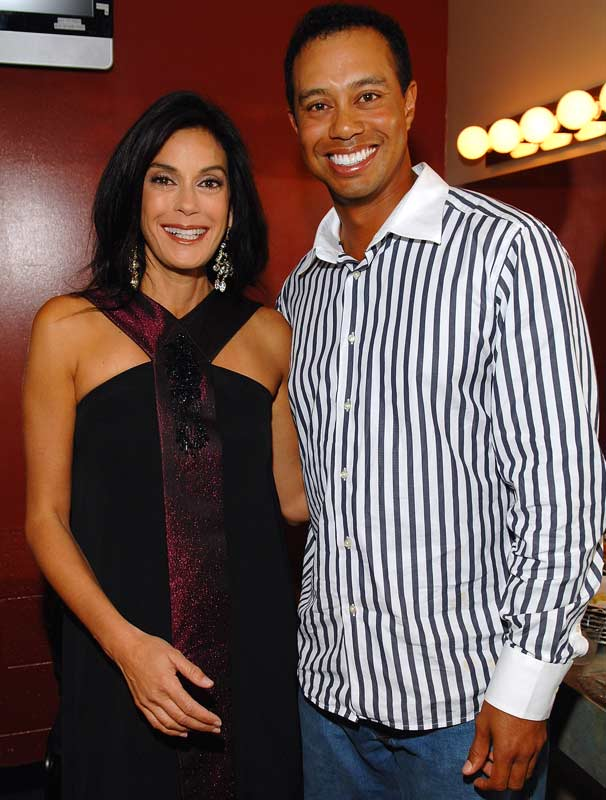 Teri Hatcher attended Tiger Woods' Learning Center Block Party last weekend, but it was not held on Wisteria Lane.