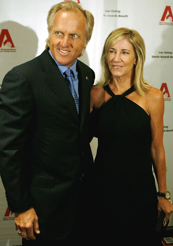 Super sports couple Greg Norman and Chris Evert attended the 13th Annual Lou Gehrig Sports Award earlier this week.