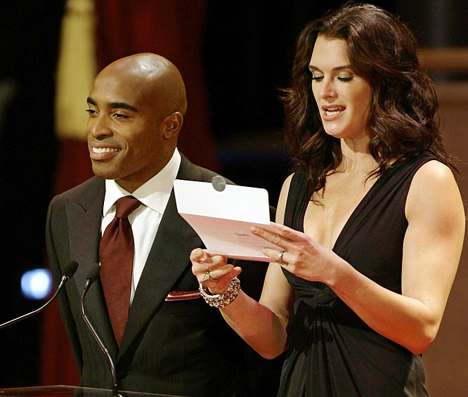 Tiki Barber continues to enjoy life after football. He presented an award earlier this week with Brooke at the Quill Awards, which honors this year's finest books and authors.