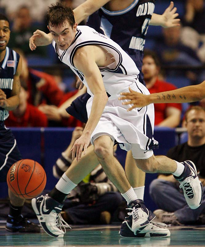 A.J. Graves (pictured), Mike Green, Julian Betko, Drew Streicher<br><br>The Bulldogs' Sweet 16 trip last season was no fluke; in Graves, Green and Betko they have perhaps the savviest backcourt trio in the country. Graves, Butler's leading scorer, was second in the nation in free throw shooting;  while team assist leader Mike Green, a Philadelphia product, brings an East Coast toughness to the point. Betko, a glue guy who transferred to the Bulldogs from Clemson in 2004, was recently granted a sixth year of eligibility by the NCAA and will be a valuable part of the attack.