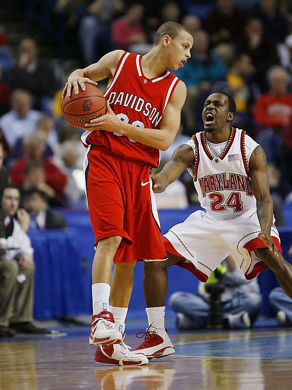 Stephen Curry (pictured), Jason Richards, Max Paulhus Gosselin<br><br>Curry was the nation's biggest freshman surprise in '06-07. The Son of Dell was overlooked by ACC schools but made an instant impact as a prolific scorer for the Wildcats, averaging 21.5 points per game as they won the Southern Conference title. Richards, meanwhile, is the heart of the 'Cats -- a highly underrated point guard who racked up 249 assists against only 106 turnovers, and logged a team-high 34.3 minutes per game.