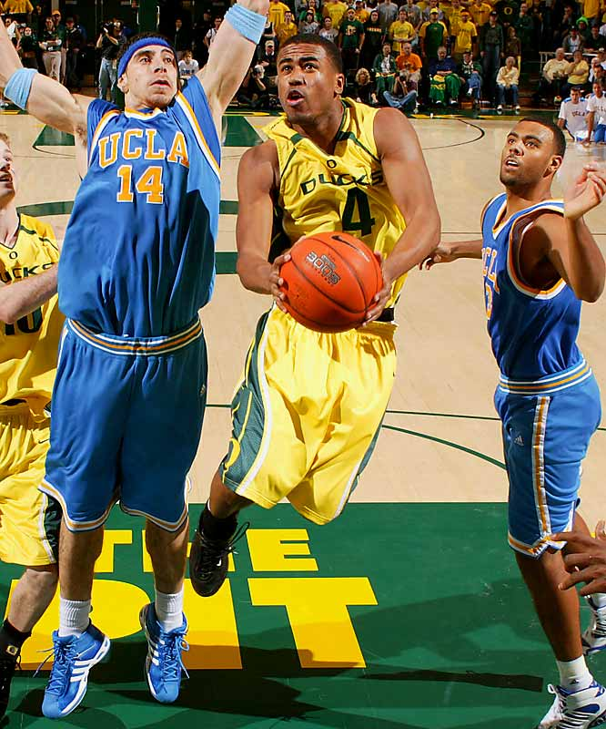 Bryce Taylor (pictured), Tajuan Porter, Malik Hairston <br><br>The Ducks should be able to get by without Aaron Brooks, the clutch point guard whose monster senior season propelled him into the first round of the NBA Draft. Taylor, Porter and Hairston are all high-quality perimeter scorers; the key will be whether the the pint-sized Porter, who's capable of putting up 30 points on any given night, can fill a more traditional point-guard role as a sophomore.