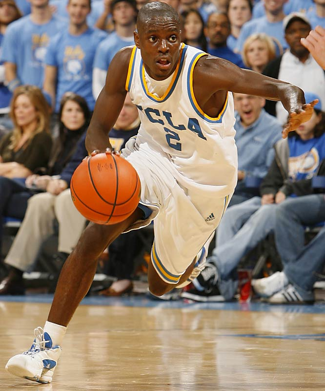 Darren Collison (pictured), Josh Shipp, Russell Westbrook, Michael Roll <br><br>Clutch two guard and lock-down defender Arron Afflalo is gone to the Pistons, but the Bruin backcourt remains at an elite level. Collison may be the nation's top all-around point guard, while Westbrook is a fleet-footed backup. The oft-injured Shipp, who started at the three last season, has potential to be a solid scorer at the two if he can remain healthy for an entire season.