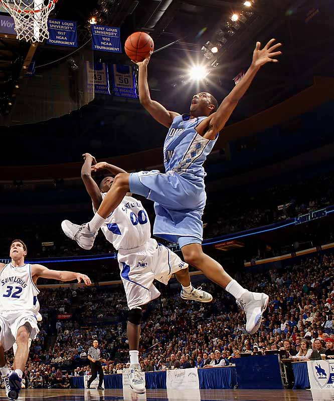 Tywon Lawson, Wayne Ellington (pictured), Bobby Frasor, Quentin Thomas <br><br>Bruising power forward Tyler Hansbrough is the Tar Heels' biggest star, but Lawson and Ellington should become a devastating 1-2 duo as sophomores. They were one disastrous overtime (against Georgetown) away from getting valuable Final Four experience as freshmen, and probably won't be denied it this time around. Frasor, a former starter who took on an auxiliary role after Lawson's arrival, may be the nation's savviest backup point.