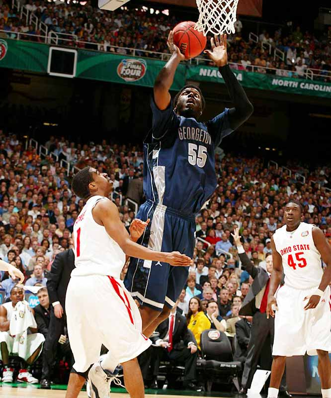 '06-07 Stats: 12.9 points, 6.9 rebounds, 67.1% FGs<br><br>Big Roy is the only player on this list who made a genuine sacrifice by returning to school: He passed on being a Lottery Pick in order to take another title shot with the Hoyas. He's the lone truly elite center left in college hoops, and has been an efficient scorer within John Thompson III's modified Princeton offense. On the syllabus for his senior year: learning how to stay out of early foul trouble in big games.