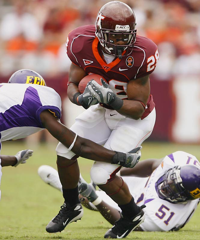 Ore was first-team All-ACC last year, when he rushed for 1,137 yards and 16 touchdowns. He hasn't reached 100 yards in a game this season. Virginia Tech's offense is sputtering with such minimal production from Ore.